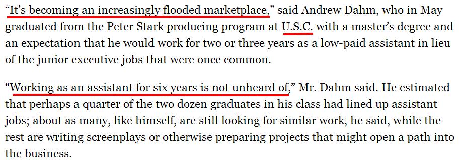 Film School Graduates' Job Prospects at U.S.C.  N.Y.U.  U.C.L.A.   NYTimes.com